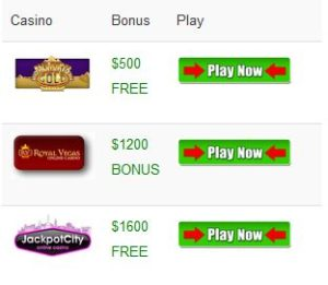 Top online casinos for Australia, UK, USA & Canada