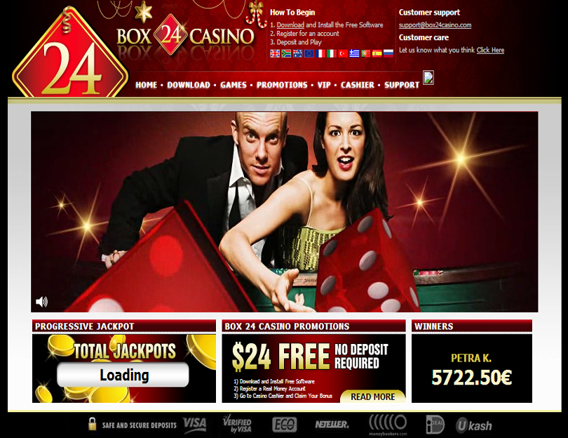 Play pokie games at Box24 casino online and win real money! Australian and New Zealand players accepted!