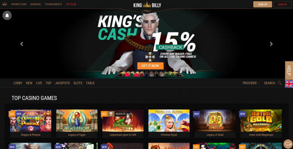 King Billy Login